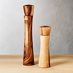 2-piece cinch acacia salt-pepper mill set