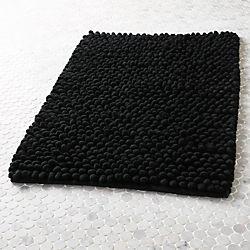 cirrus black bath mat