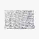 cirrus white bath mat