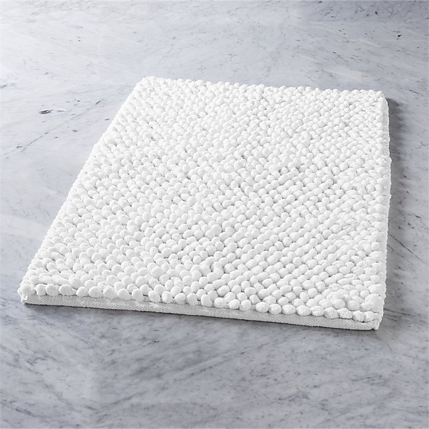 cirrus white bath mat