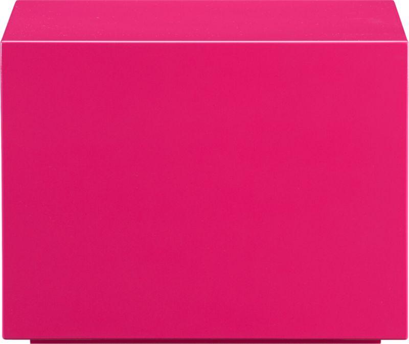 city slicker hot pink side table