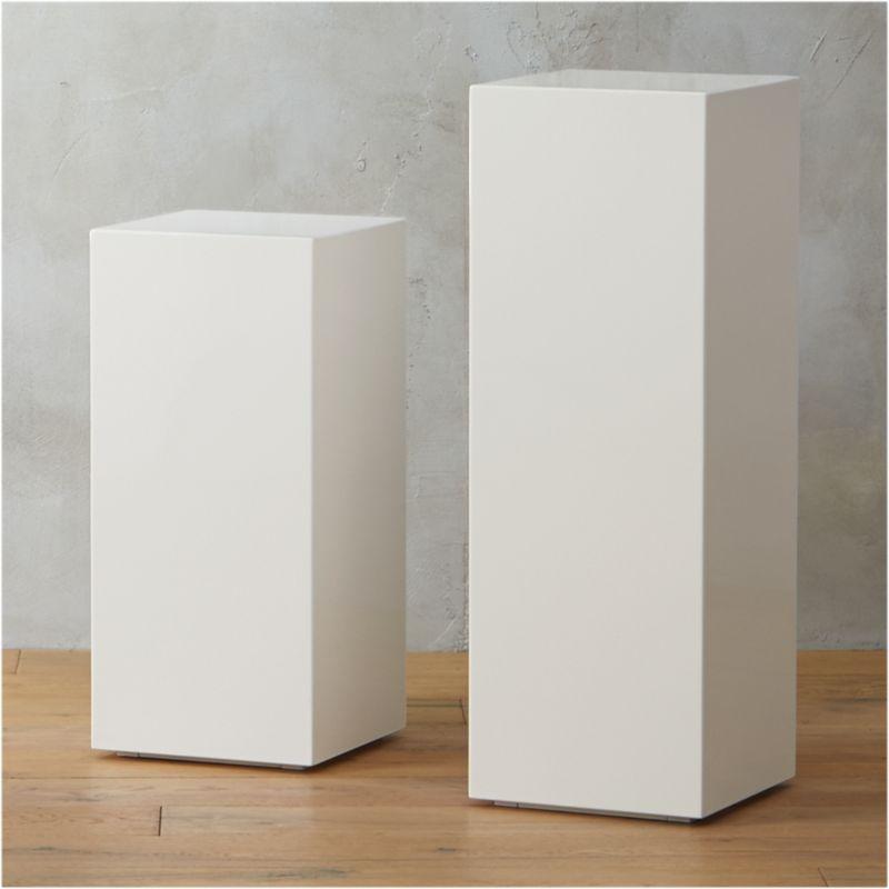 City Slicker Pedestal Tables Cb2