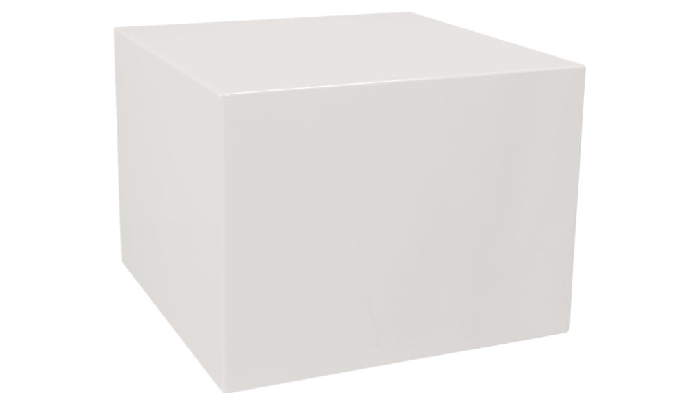 city slicker white side table
