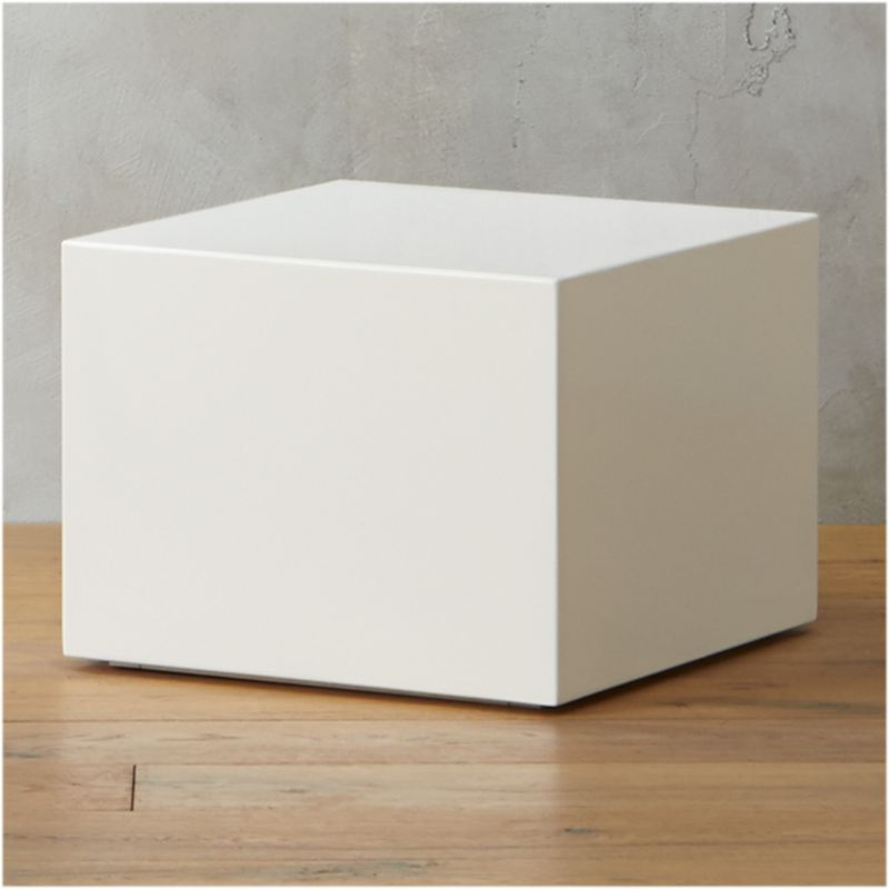 Table Carree Blanche: City Slicker White Side Table