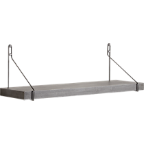 clad shelf with gun metal brackets