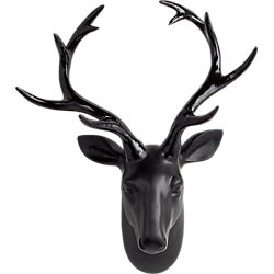 clarke the wall hanging black stag