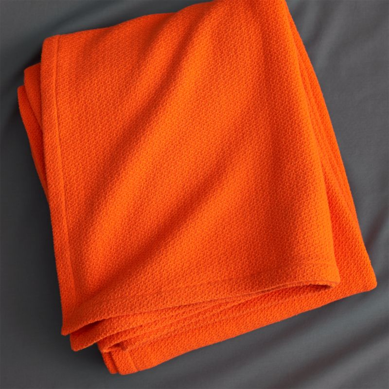 classic orange king blanket