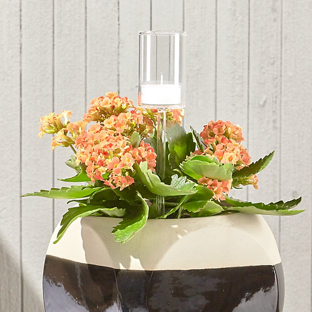 garden stake tea light candle holder