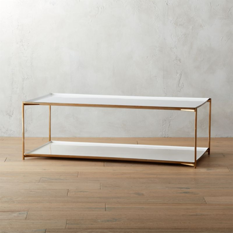 cleo coffee table by CB2 $599 CB2 - Designer Love - Brass Coffee Table