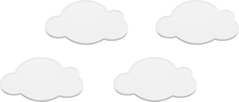 set of 4 cloud coasters