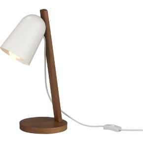clutch walnut table lamp