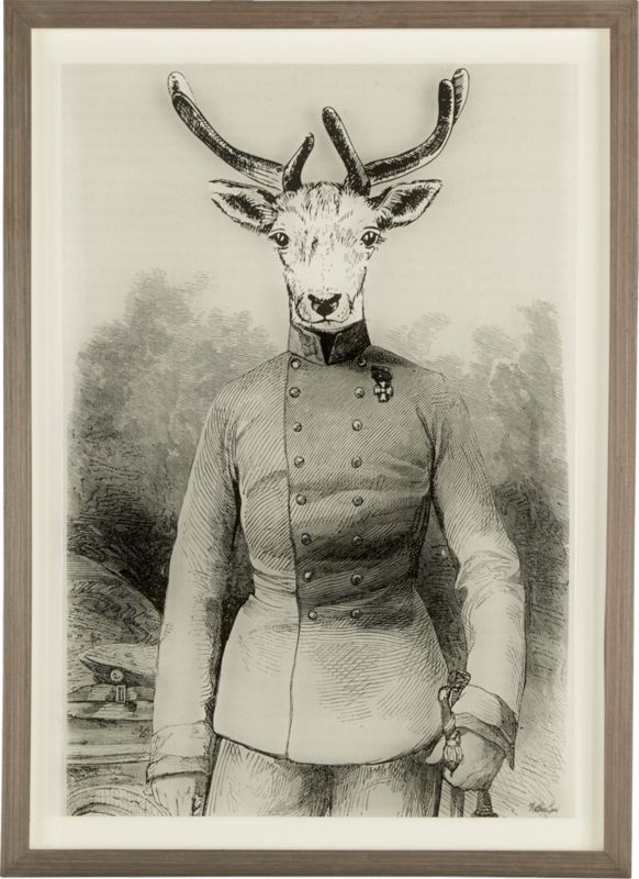 colonel deer acrylic framed print