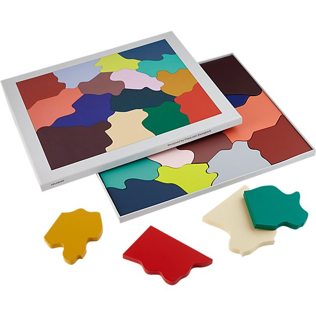 wooden color puzzle
