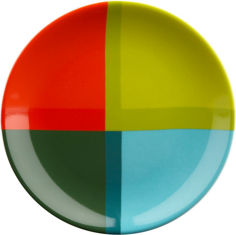 colorblock round appetizer plate