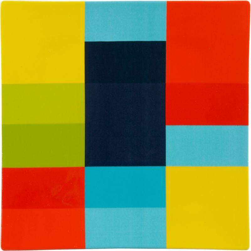 colorblock square platter