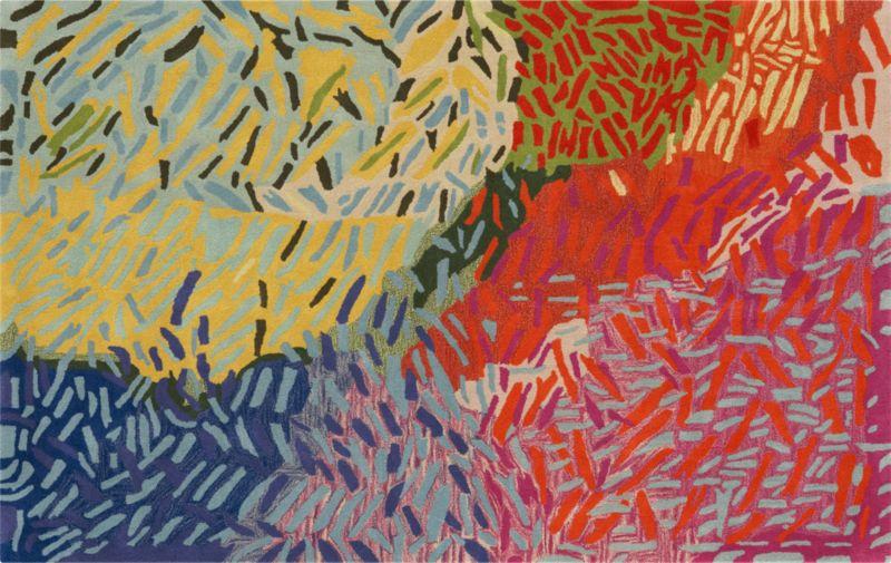 colorful confetti rug 5'x8'