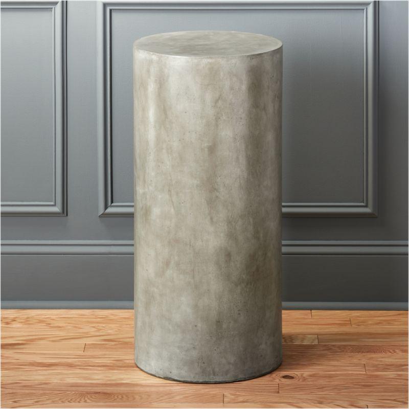 column large grey pedestal