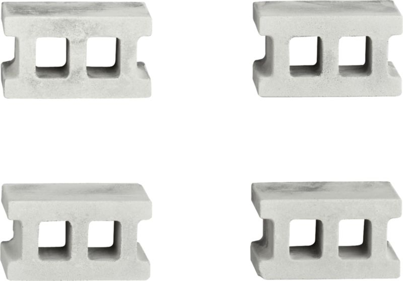 set of 4 concrete magnets