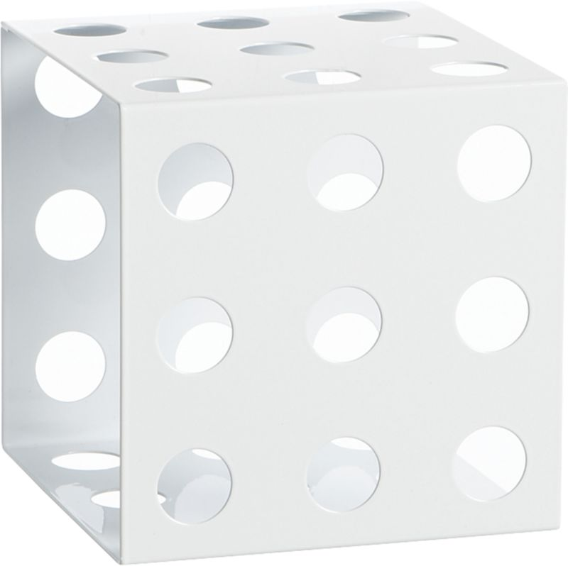 connect white cube shelf