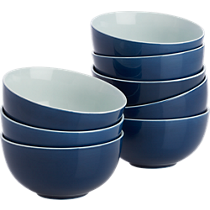 contact blue bowls set of eight