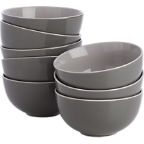contact grey bowls set of eight
