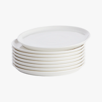 contact white salad plates set of eight