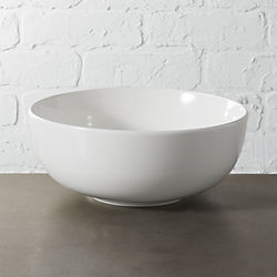 contact white serving bowl