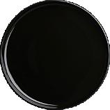 coop black dinner plate