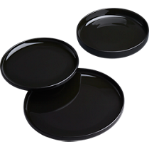 coop black dinnerware
