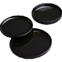 coop black dinnerware