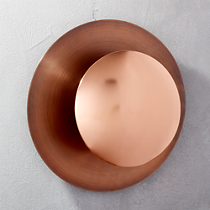 copper disc wall sconce