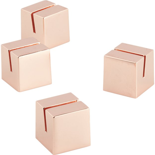 set of 4 copper place card holders CB2 : set of 4 copper place card holders from www.cb2.com size 625 x 625 jpeg 20kB