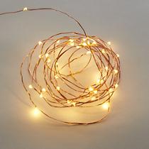 "21"" copper twinkle string lights"