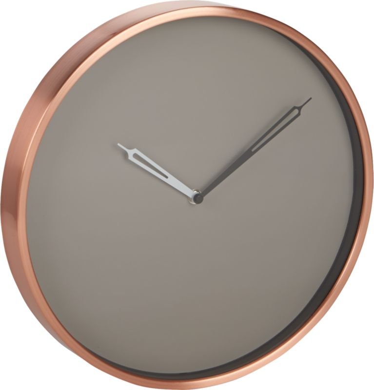 copper wall clock : CB2