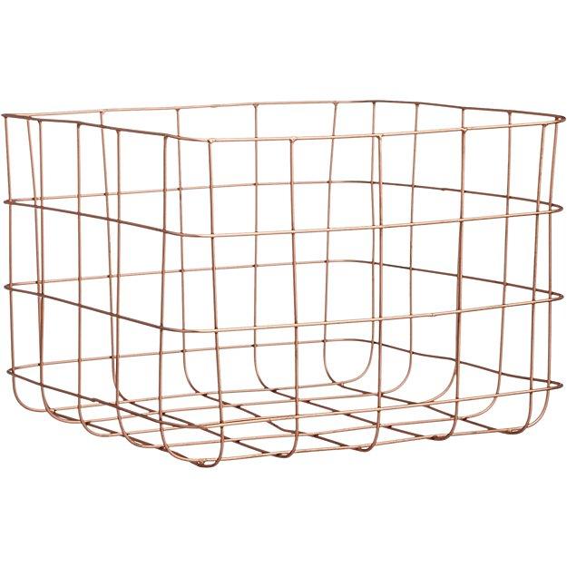 copper wire storage basket