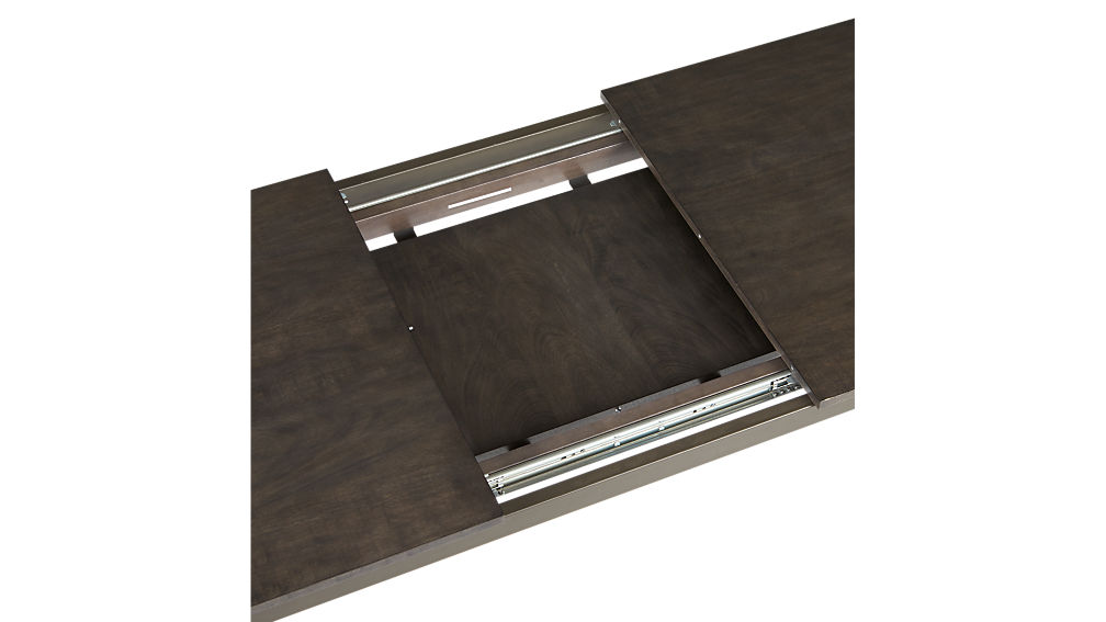 core black extension dining table