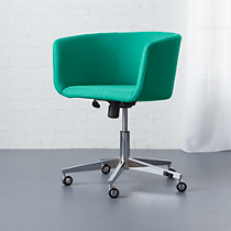 coup teal office chair