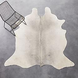 cowhide grey rug