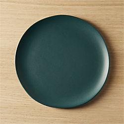 crisp matte blue-green salad plate