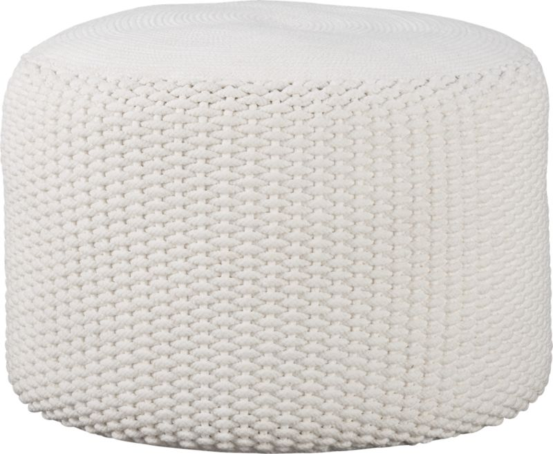 criss knit indoor-outdoor pouf