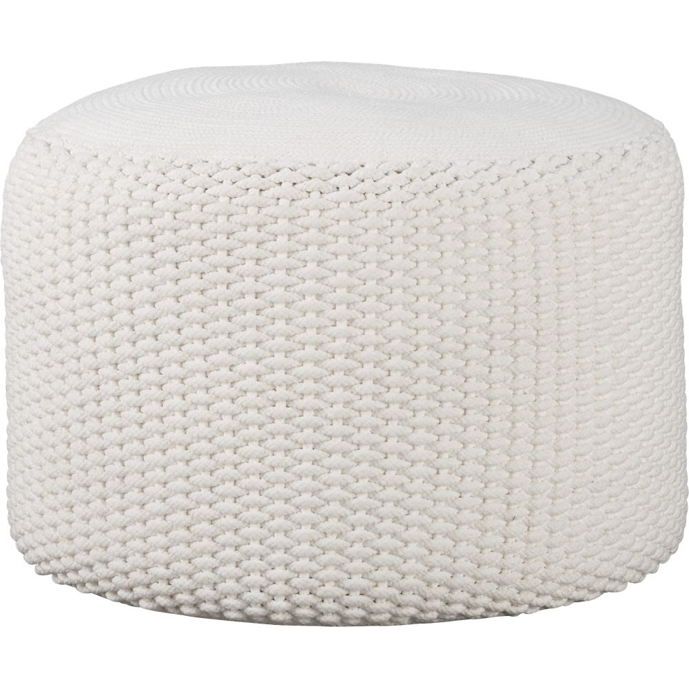 Modern ottomans and benches unique round ottomans cb2 for Cb2 indoor outdoor rug