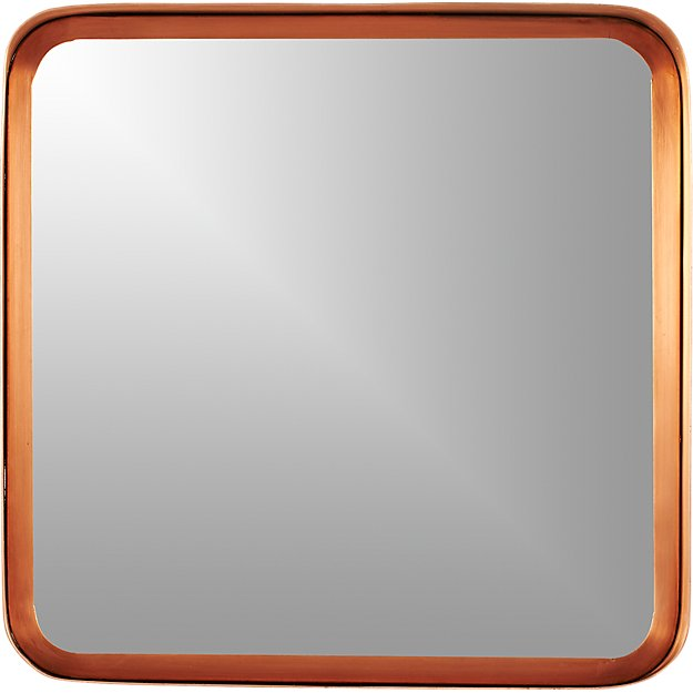 "16"" croft copper wall mirror"