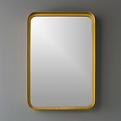 "croft brass 16""x24.5"" wall mirror"