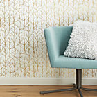 crumpled trees metallic traditional paste wallpaper.