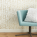 crumpled trees metallic traditional paste wallpaper