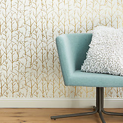 crumpled trees metallic traditional paste wallpaper