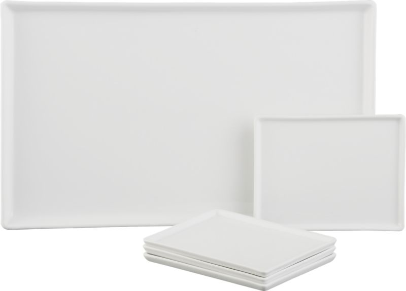 5-piece cuatro platter set