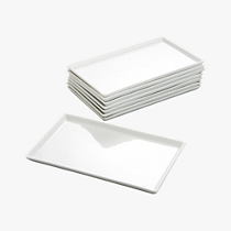 set of 8 cuatro medium platters