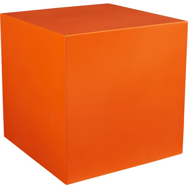 cube orange table-planter