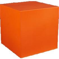 cube orange table-planter